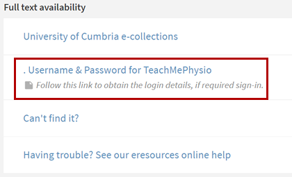 teachmephysio 01, TeachMePhysio getting access 01