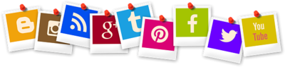 Social Media Polaroid Icons,