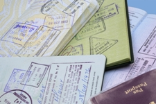 Passports, Passport with country stamps in